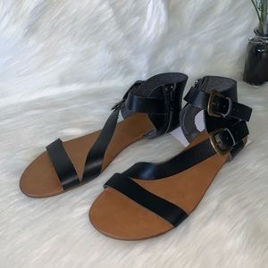 Mossimo Supply Co •Black Sandals
